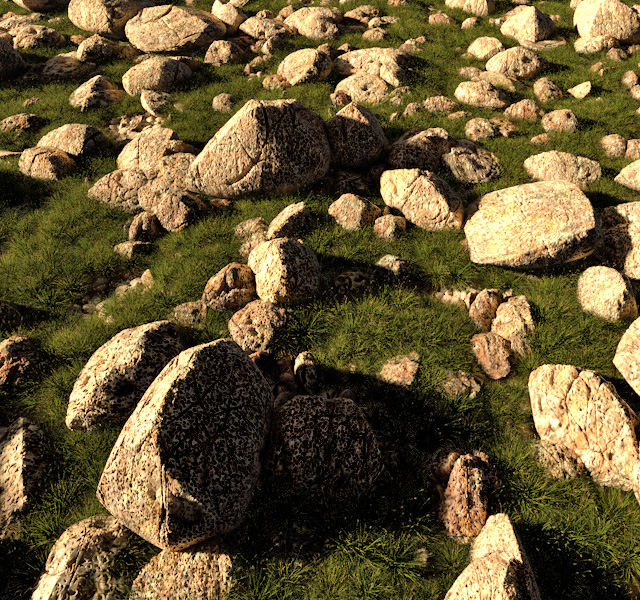 New examples of render for Eroded stones presets 1 and 2