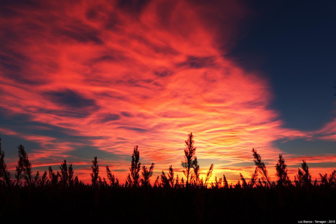 burning sky - Sunset Terragen scene