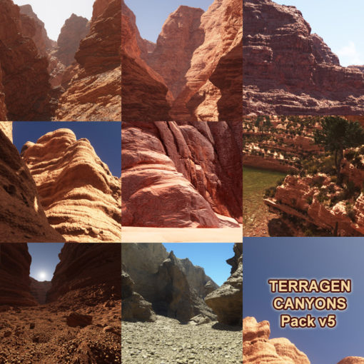 Canyons pack to sale - 8 canyon scenes fully compatibles with Terragen 4